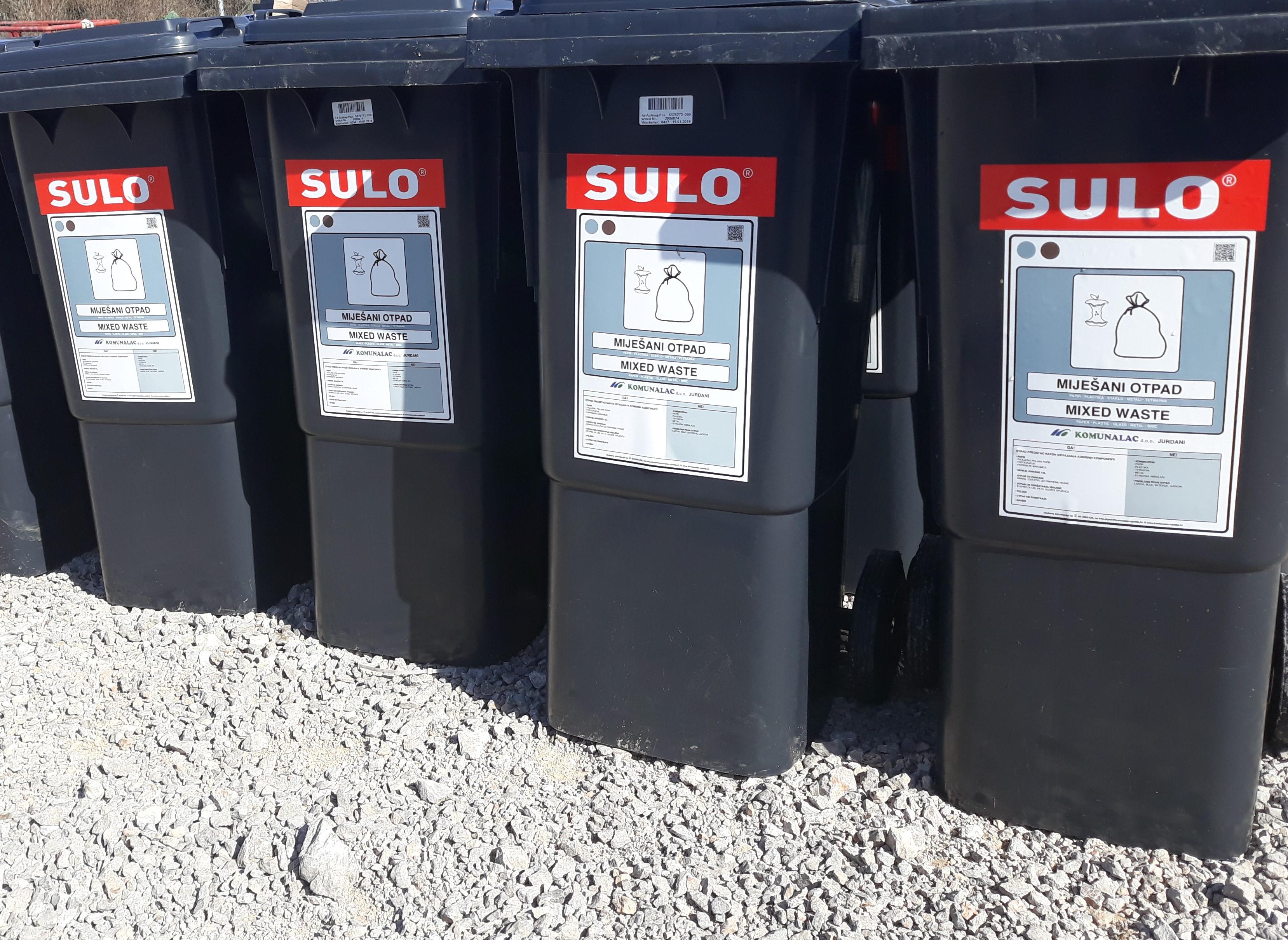Kreće distribucija spremnika za miješani komunalni otpad